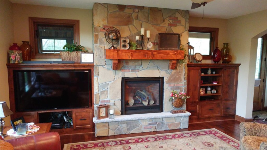 Custom Fireplaces - Natural Stonescapes